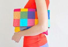 DIY patchwork clutch