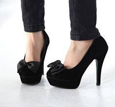 Heels with bowties