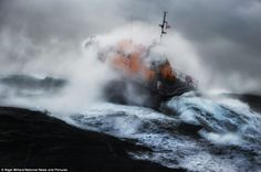 Powerful: Ireland's first Tamar class lifeboat, the Kilmore Quay Killarney has been braving the waters off the south-east coast of Ireland s...