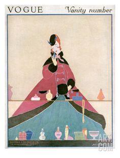 Vogue Cover - November 1914 Regular Giclee Print by Helen Dryden