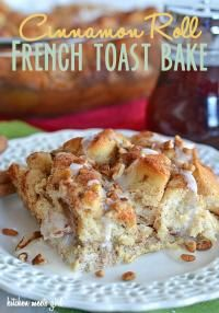 Cinnamon Roll French Toast Bakes on MyRecipeMagic.com #breakfast #french #toast #cinnamon #roll #bake