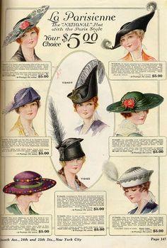 Eliska: Vintage Hat Fashion Illustration