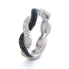 BLACK DIAMOND ENGAGEMENT RINGS | Black Diamond, Twist, Rope, Braided Lady's Diamond Ring Black Diamond ...