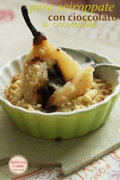 biscottirosaetralala Poire Belle helene with crumble
