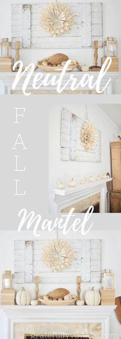 Farmhouse Fall Mantel Vignettes - Gratefully Vintage