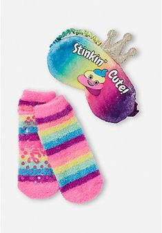 Justice Girl/'s 2 Pack UNICORN BALLOON Socks Size Medium Large New with Tags