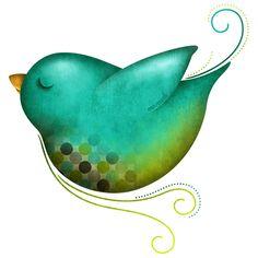love this sweet birdie...colors, design, graphics.