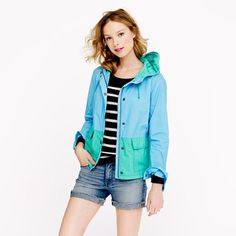 Colorblock poplin sail jacket.  I want.  Love the color blocking and the palette.  And maybe if I have a sail jacket, then I will go sailing.  Right?