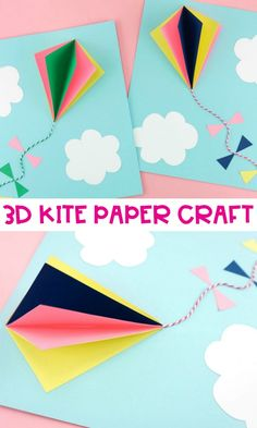 # Easy Crafts for summer Paper Hot Air Balloon -Easy, colorful summer kids craft! Balloon Crafts, 3d Paper Crafts, Paper Crafts For Kids, Fun Crafts, Easter Crafts, Summer Crafts For Kids, Crafts For Kids To Make, Summer Kids, Art For Kids