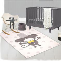 Nattiot Polka Monkey Area Rug | Wayfair.co.uk