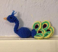 Little Peacock Amigurumi - Peacock plushie - stuffed animal