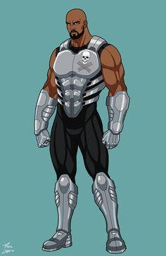 Crazy Train OC commission by phil-cho on DeviantArt Fantasy Character Design, Character Design Inspiration, Character Concept, Character Art, Black Anime Characters, Superhero Characters, Fantasy Characters, Cyberpunk, Black Comics