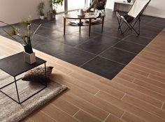 carrelage bois et carrelage beton cire