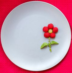 Items similar to Wall Decor Canvas - Raspberry Art for Kitchen on Etsy