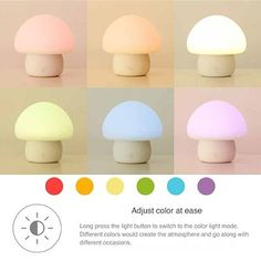 A color-changing, mushroom-shaped nightlight for anyone who's a little bit afraid of the dark. | 21 Awesome Products From Amazon To Put On Your Wish List
