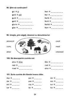 Alphabet Writing, Preschool Writing, Fun Worksheets For Kids, Math For Kids, Visual Perceptual Activities, Romanian Language, Curriculum, Homeschool, Homework Sheet