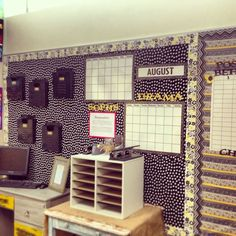 Pinterest Classroom Organization | Organization: high school classroom assignment center. black boxes ...