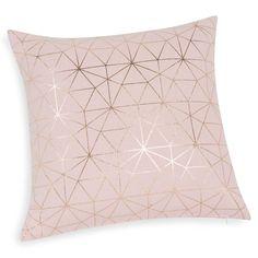 Funda de cojín de algodón rosa 40 x 40 cm MAGIX