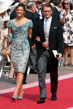 Crown Princess Victoria of Sweden and Prince Daniel; religious wedding of Prince Albert of Monaco and ms Charlene Wittstock at the Prince's Palace on July 2, 2011