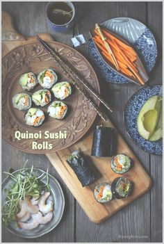 Quinoa Sushi Rolls with Crunchy Kale Chips | Thyme