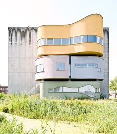 Le Corbusier's candy colored modernist organic architecture. @thecoveteur