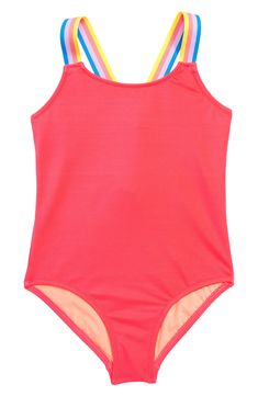f23ea601f8 Toddler Girl's Crewcuts By J.crew One-Piece Swimsuit, Size 2T - Red