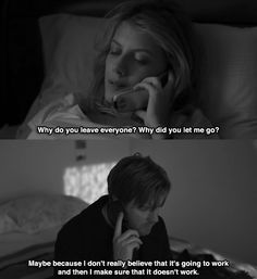 """""""Why do you leave everyone? Why did you let me go?"""" """"Maybe because I don't really believe that it's going to work. And then I make sure that it doesn't work."""" Ewan McGregor and Mélanie Laurent • Beginners, 2010"""