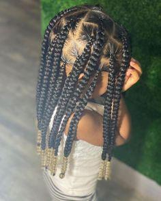 Little Girl Braid Styles, Kid Braid Styles, Little Girl Braids, Black Girl Braids, Braids For Black Hair, Hair Styles, Toddler Braided Hairstyles, Baby Girl Hairstyles, Natural Hairstyles For Kids