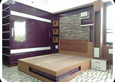 Home Decoration Online Shopping Bad Room Design, Bedroom Closet Design, Bedroom Furniture Design, Modern Bedroom Design, Bed Furniture, Latest Cupboard Designs, Bedroom Cupboard Designs, Simple Bed Designs, Double Bed Designs