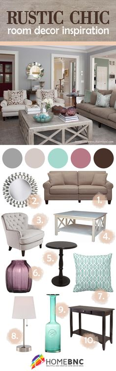 Rustic chic room decor inspiration