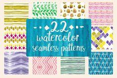 22 Watercolor patterns @creativework247