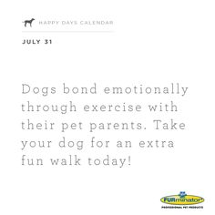#Dogs bond emotionally through #exercise with their #pet parents. Take your dog for an extra fun walk today!