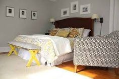 Image result for yellow and grey master bedroom