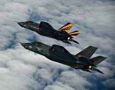 F-35C formation flight photos -- US Navy test pilots flying carrier variant of F-35 perform formation maneuvering during flight test at Patuxent River, Maryland.