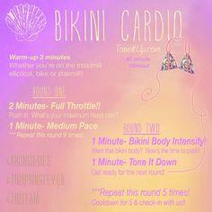 Weekly Tone It Up Schedule: Bikini Cardio
