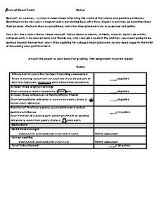 Worksheet Beowulf Worksheets epic texts worksheets and on pinterest beowulf boast rubric prewriting example template