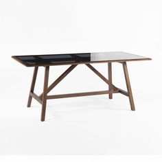 Wolfe Dining Table with Glass Top France and Son Mid-Century Modern, http://www.franceandson.com/wolfe-dining-table.html