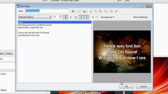 EasyWorship 2009 - How to Create a New Song