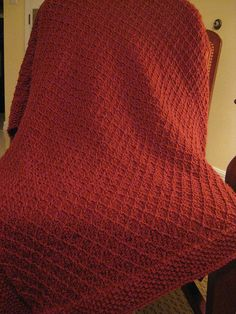 Ravelry: Project Gallery for Sage Throw pattern by Caron Design Team