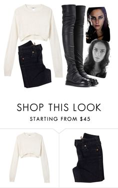 """Fangs and Wands #1"" by beckypotter21 on Polyvore featuring moda, Monki, True Religion e Rick Owens"