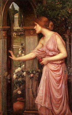 John William Waterhouse, Psyche Entering Cupid's Garden (oil on canvas,c.1904.)