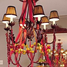 cranberries Decorating Ideas | ... and cranberry Christmas Chandeliers for Cool Ceiling Decorating Ideas