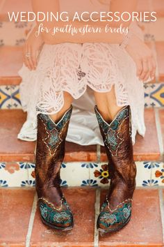 These southwestern wedding accessories are perfect for boho chic brides! @myweddingdotcom