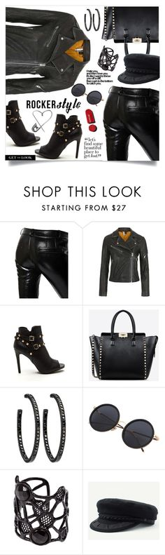 """""""Rocker Style"""" by jecakns ❤ liked on Polyvore featuring Each X Other, Topshop, Valentino, Valérie Egée, Goorin, Chanel, rockerchic and rockerstyle"""