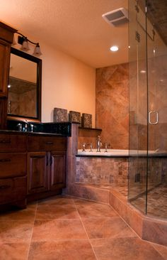 Traditional Bathroom Corner Tub Design, Pictures, Remodel, Decor and Ideas - page 17
