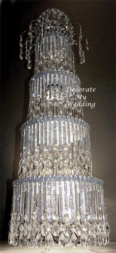 88 Best Wedding Bling Bling Images On Pinterest Crystal Cake
