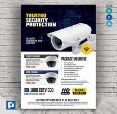 This CCTV Shop Promo Flyer Design has been develop to boost your marketing campaign. Flyer Design Templates, Psd Templates, Promo Flyer, Cctv Surveillance, Camera Shop, Marketing Opportunities, Layout Design, Lettering, Shopping