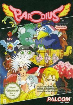 Parodius, NES, Konami, European box art
