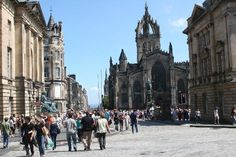 Royal Mile with St. Giles Cathedral