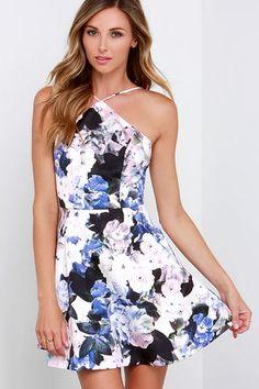 Keepsake Crossroads Dress - Floral Print Dress - Skater Dress - $178.00